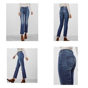 Aritzia THE CASTING High Rise Cropped Jeans.